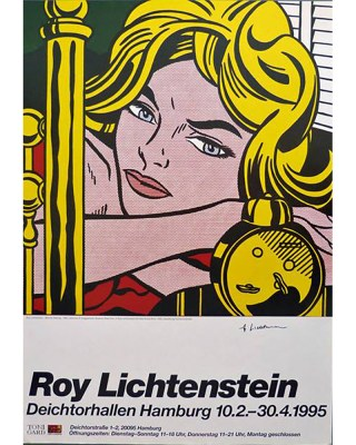 Lichtenstein Blonde waiting oR
